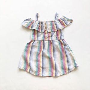 Old Navy linen blend cold shoulder dress EUC 2T